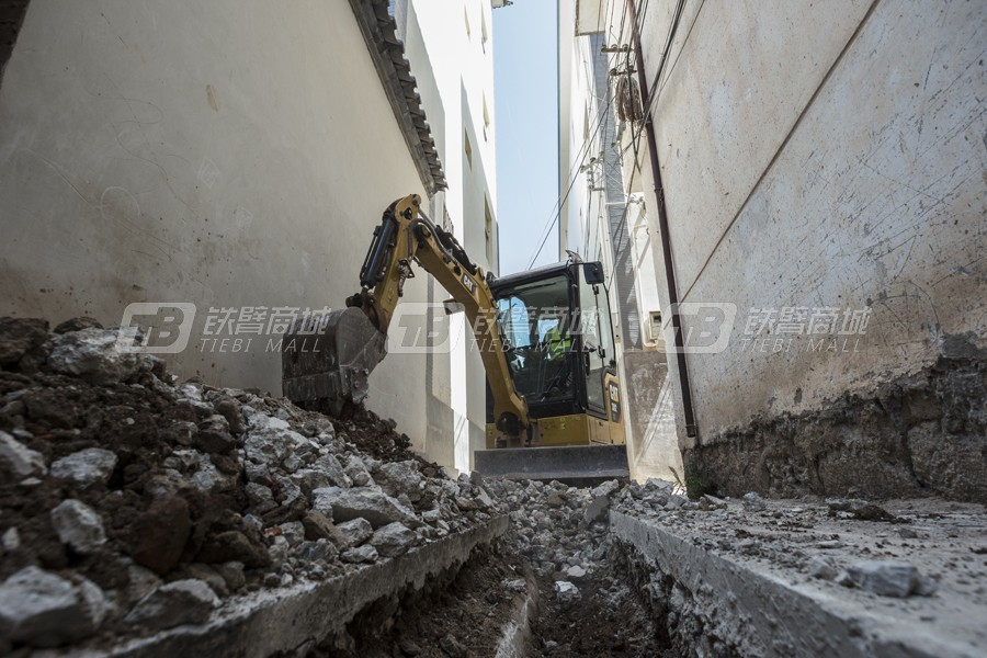 卡特彼勒新一代CAT®302 CR小型液压挖掘机外观图3