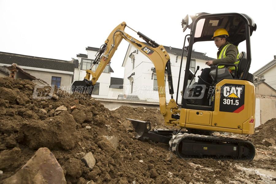 卡特彼勒新一代CAT®301.5迷你型挖掘机外观图3