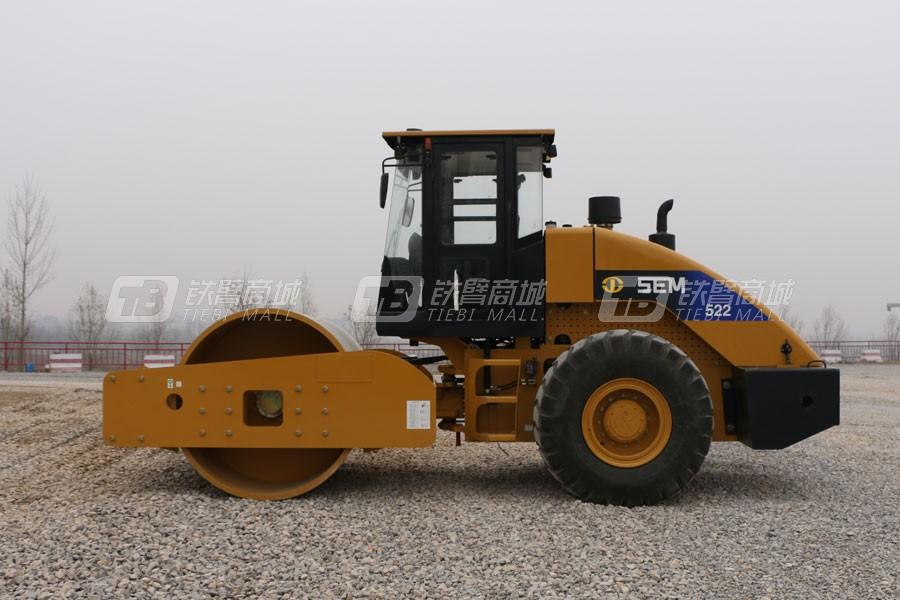 山工SEM522单钢轮压路机外观图2