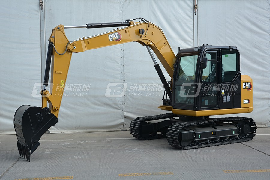 卡特彼勒新一代CAT®307小型液压挖掘机外观图3