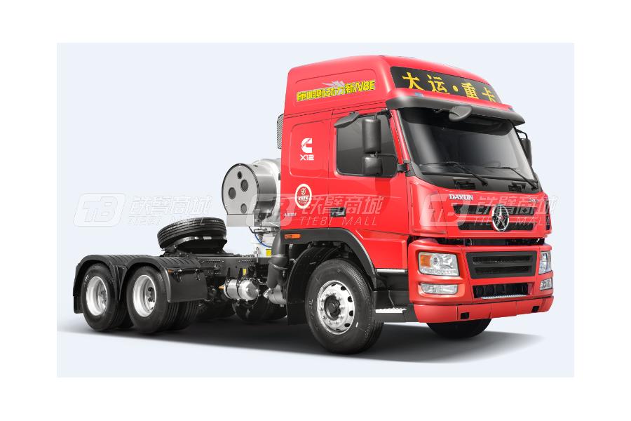 大运新N8E钜赢2.0版 6×4 LNG公路牵引车外观图2