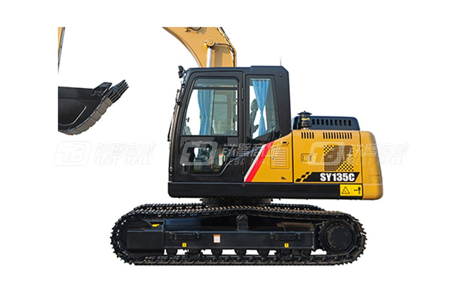 三一SY135C小型挖掘机外观图1
