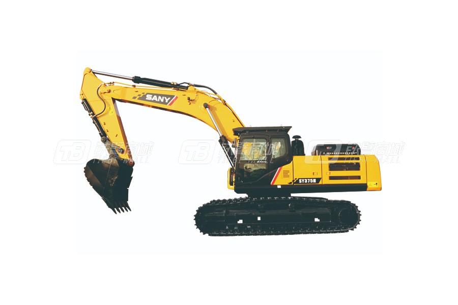 三一SY375H履带挖掘机外观图2