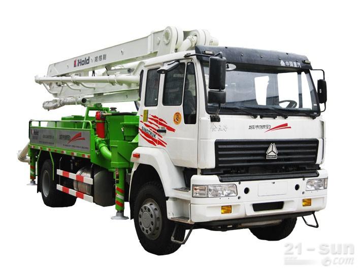 鸿得利重工HDL5160THB(24M)混凝土泵车外观图1