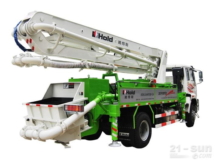 鸿得利重工HDL5160THB(24M)混凝土泵车外观图2