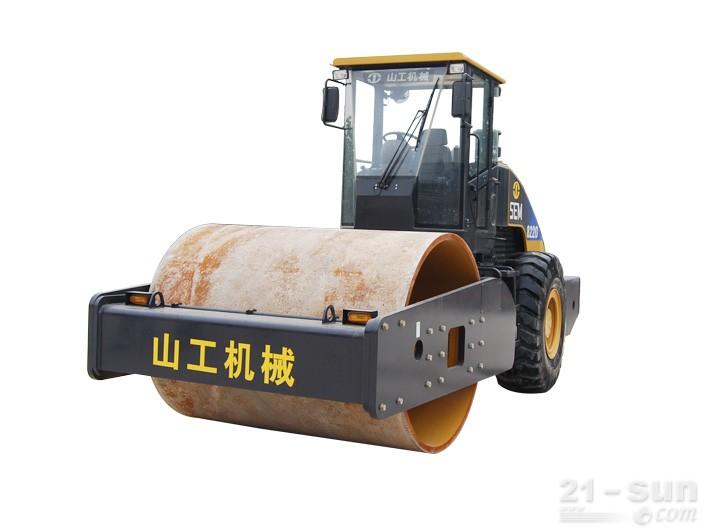 山工SEM8220单钢轮压路机外观图1