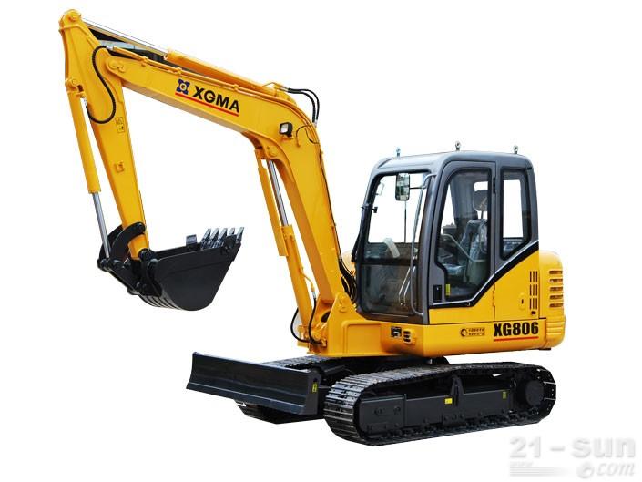 厦工XG806挖掘机外观图1