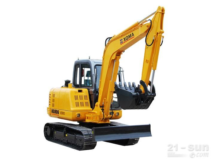 厦工XG806挖掘机外观图3