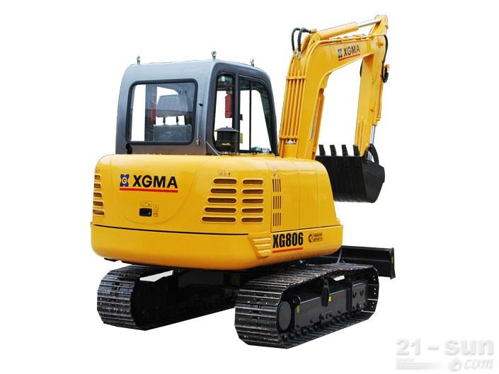 厦工XG806挖掘机外观图4