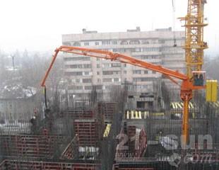 建研机械HGY17楼层固定式混凝土布料杆