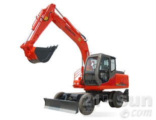 恒特HTL100轮式挖掘机