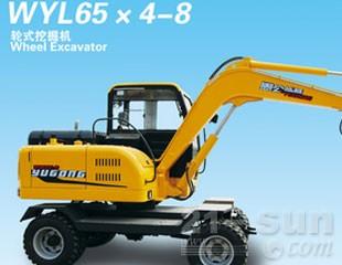 愚公机械WYL65轮式挖掘机