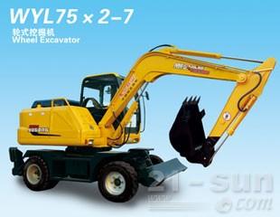 愚公机械WYL75轮式挖掘机
