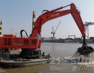 邦立重机CEC1250-7船用全液压挖掘机