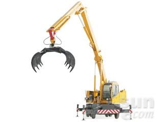 八达重工QLYS8DZ双动力液压轮胎式折叠臂抓斗起重机图片