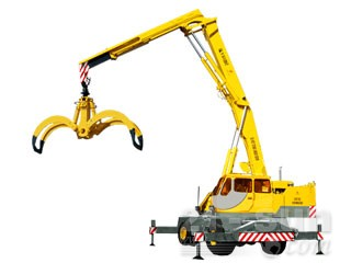 八达重工QLYS12DZ双动力液压轮式折叠臂抓斗起重机图片