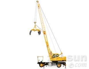 八达重工QLYS12HZ电动液压轮式桁架臂抓斗起重机