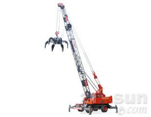 八达重工QLYS20HZ双动力液压轮胎式桁架臂抓斗起重机