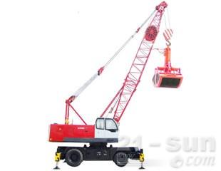 八达重工QLYS35HZ双动力液压轮式桁架臂抓斗起重机