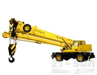 八达重工QLYS16SZ双动力液压轮胎式伸缩臂抓斗起重机图片