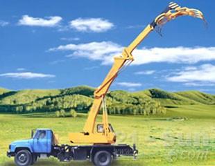 八达重工SDQY6DZ双动力液压汽车式折叠臂抓斗起重机