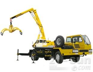 八达重工SDQY15DZ双动力液压汽车式折叠臂抓斗起重机