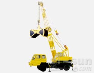 八达重工SDQY16HZ双动力液压汽车式桁架臂抓斗起重机