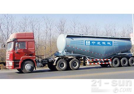 中建机械YCZ9391GFL卧式罐装散粉粒物料车