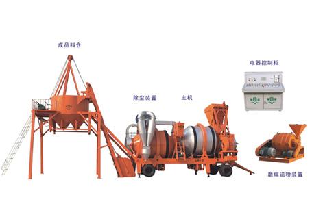 泉筑SLHB-10/15/20/30双滚筒移动间歇式沥青混合料拌和