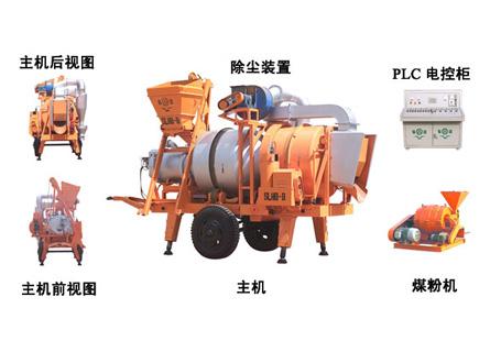 泉筑SLHB-8双滚筒移动间歇式沥青混合料拌和设备