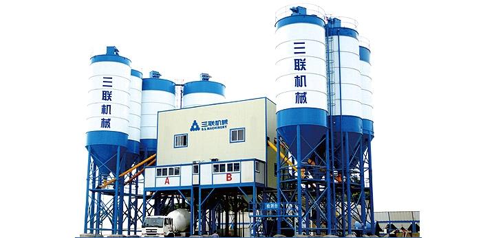 三联机械HZ(L)S60商品混凝土搅拌(楼)站
