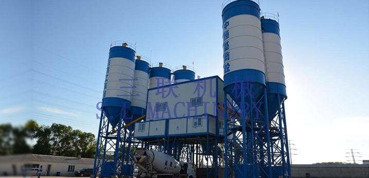 三联机械HZ(L)S180商品混凝土搅拌(楼)站