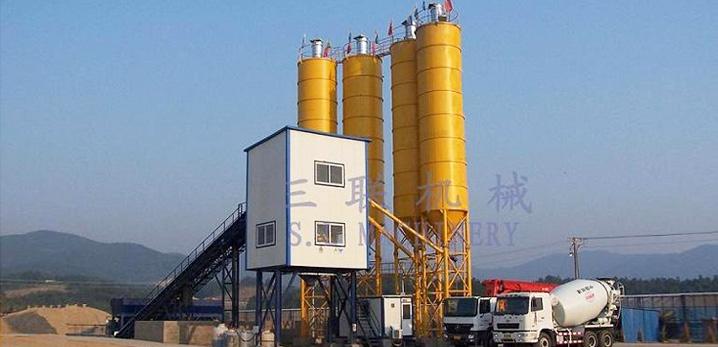 三联机械HZ(L)S90商品混凝土搅拌(楼)站