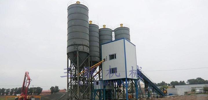 三联机械HZS120模块式混凝土搅拌设备