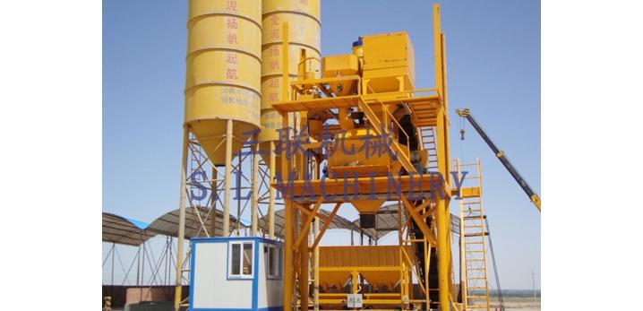 三联机械HZS60模块式混凝土搅拌设备