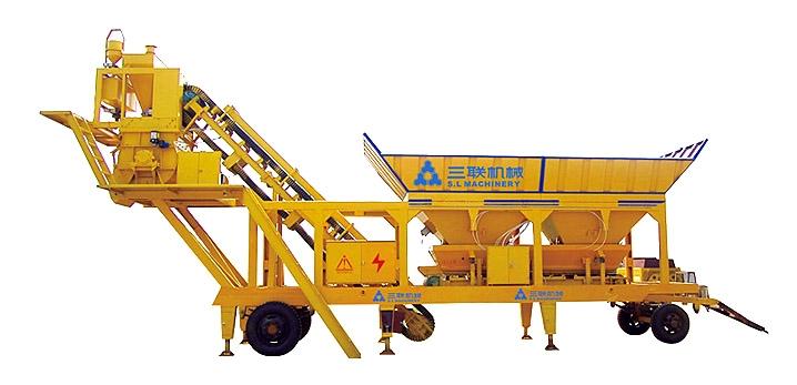 三联机械YHZS25移动式混凝土搅拌站