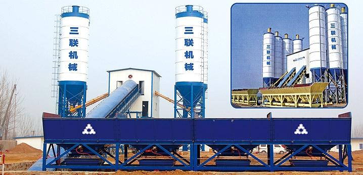 三联机械HZS高铁专用混凝土搅拌站