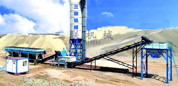 三联机械WCB300模块式稳定土厂拌设备