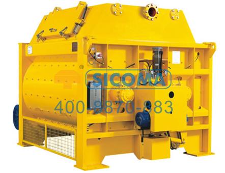 仕高玛MSO 1500小型双卧轴商品混凝土搅拌机