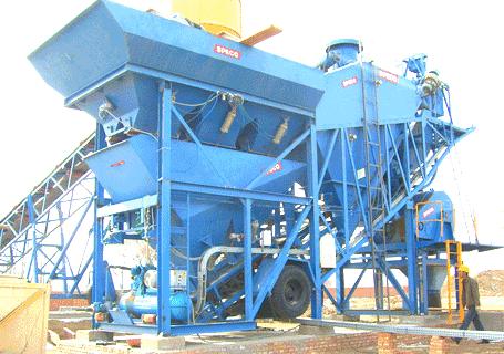 斯贝柯STBP45P/60P移动型水泥搅拌站