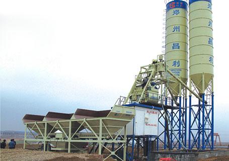 朝阳建工HZ75型混凝土搅拌站图片