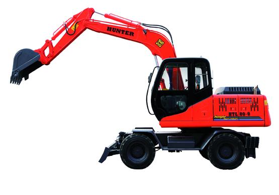 恒特HTL80-9轮式挖掘机