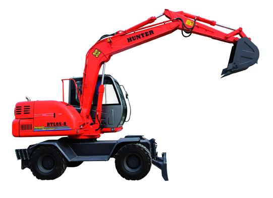 恒特HTL85-8轮式挖掘机外观图1