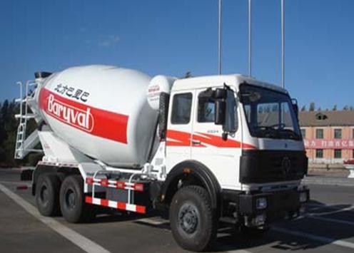 巴里巴BZ5253GJBNA(北奔重卡三桥9m3)混凝土搅拌运输