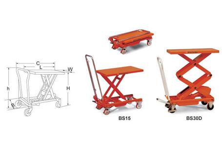 梅狮BS重型脚踏式升降平台车