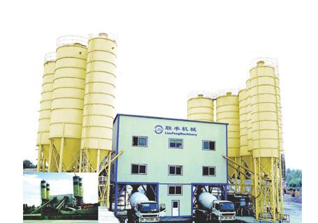 联丰机械HZS180商品混凝土搅拌设备图片