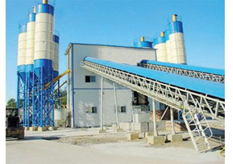 联丰机械HZS180高铁专用混凝土搅拌站图片