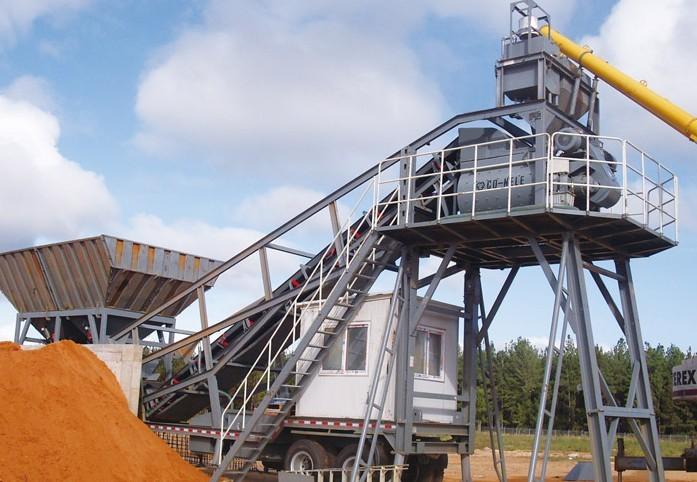 新型YHZS拖挂式移动混凝土搅拌站