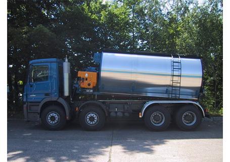 林泰阁卧式浇注式沥青混凝土搅拌保温运输车图片