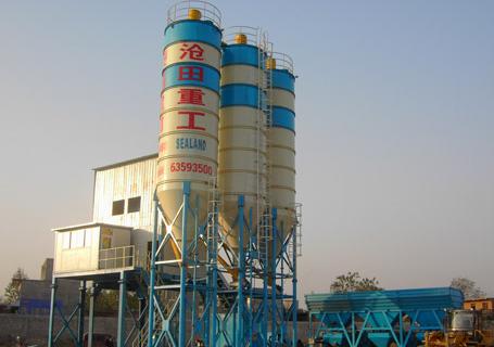 沧田重工HZS60混凝土搅拌站图片
